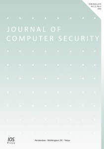 Cover for Journal of Computer Security